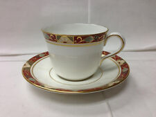 "ROYAL CROWN DERBY ""CLOISONNE"" TEACUP AND SAUCER 7 OZ. BONE CHINA ENGLAND NEW"