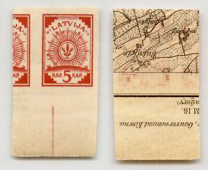 Latvia 1918 SC 1 MNH map. g1871