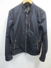 A/X Armani Exchange Men's Navy Bomber Harrington Jacket Rain Jacket Size S 62B