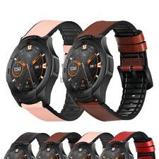 Ticwatch Pro S2 E2 Watch Band Sport Hybrid Silicon Genuine Leather Wrist Strap