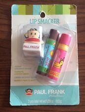 1 x Lip Smacker Paul Frank Lip Pack - Coconut Cream Cotton Candy Keychain NEW