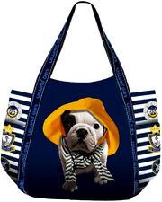 Bolso Shopper Mujer Teo Jasmin Bag Totalizador Pequeño Teo HONFLEUR Marine
