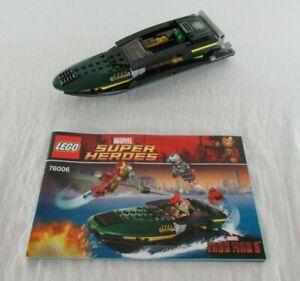 Lego Iron Man 3 Extremis Speedboat Vehicle + Manual Marvel Super Heroes 2013