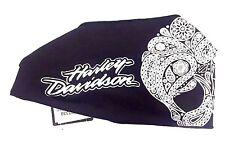 Genuine Harley Davidson Ladies Women's Paisley Skull Scrunchie Headband HE02330