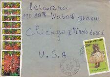 BD819) Ivory Coast 1983 nice cover to USA