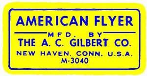 YELLOW ACCESSORY LABEL FLYERVILLE MINI-CRAFT AMERICAN FLYER