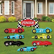 Let's Go Racing - Racecar - Yard Sign & Outdoor Lawn Decorations - Race Car.