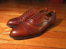 Cole Haan Made USA Men's 10.5 D Brown Leather Brogue Cap Toe
