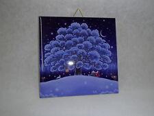 Ceramic Cork Backed Tile Trivet Hot Pad Tomte Bunny Large Tree Eva Melhuish #42