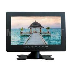 "3 Channels 7"" AV TFT BNC LCD Color Monitor Screen Video PS2 CCTV Camera Security"