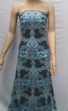 BLUE PAISLEY PRINT VISCOSE SPANDEX JERSEY  : SOLD BY 1/2 METRE : #CGV03