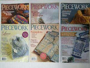 Lot of 6 PIECEWORK Magazines 2009 2010 2015