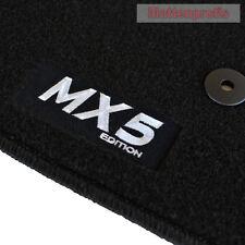 Mattenprofis Velours Fußmatten Logo sw für Mazda MX-5 MX5 ab Bj.11/2012 -