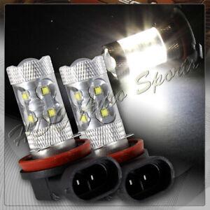 2 X CREE 7000K LED SMD H8 H9 H11 50W Hi Power Daytime Fog Driving Lights Bulbs