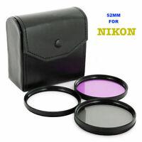 52mm Filter Kit UV CPL for Nikon AF-S DX Nikkor 18-55mm,AF-S 55-200mm Nikon lens