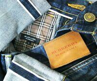 *HOT Men's BURBERRY @ BLACK LABEL Slim STRAIGHT SELVEDGE Blue Denim Jeans 32 x32