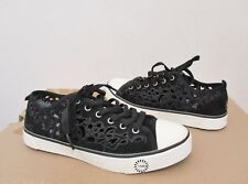 UGG Women's EVERA CUT OUT Sneakers Shoes 6.5US BLACK Suede NWOB