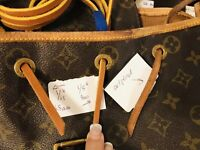 """5mm 1/5x43"""" Louis Vuitton DrawString Leather Draw String Montsouris Backpack NOE"""