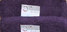 SERVIETTE DE TOILETTE 50 x 90 CM -100% COTON - LOT DE 2 - VIOLET D'EVEQUE