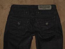 Taverniti So Cameron 12 Size 24 Skinny Stretch Denim Very Dark Blue Womens Jeans