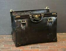 Luxury Black Bridle Leather Gladstone Bag By Swaine Adeney