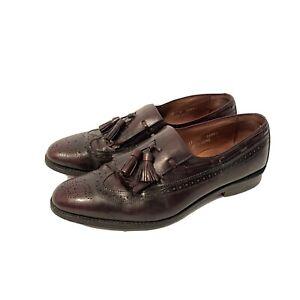 Allen Edmonds Men's Tasselled Oxford Loafer Slip Ons Brown 3777 COMB Size 11