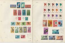 Indonesia Stamp Collection 1962-195 on 3 Pages, Mint Sets