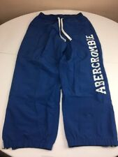 Vintage 90s Abercrombie And Fitch Blue Nautical Spellout Casual Track Pants M