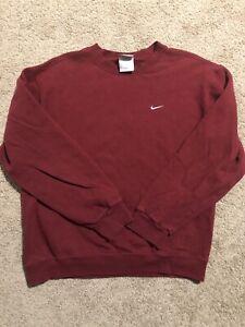 VTG Nike Gray Tag Small Check Swoosh Crewneck Sweatshirt Mens M Travis Scott USA