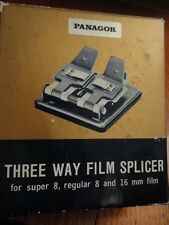 Three Way Film Splicer Panagor super 8, Regualr 8, 16mm Film MIB Vintage