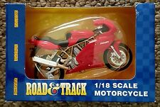 Road and Track 1:18 Scale Motorcycle - Red Ducati