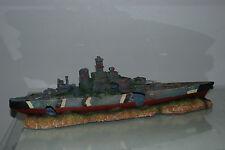 Aquarium Large Battle Ship Destroyer & Rock Base For Aquariums 50 x 9 x 15 cms