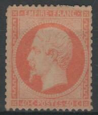 "FRANCE STAMP TIMBRE N° 23 "" NAPOLEON III 40c ORANGE 1862 "" NEUF x A VOIR N007"