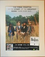THE BEATLES Anthology 3 1996 Music Press Poster Type Advert In Mount