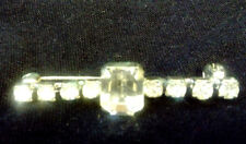 Safety Catch, In Very Good Condition Art Deco Paste Diamante Pin Brooch,