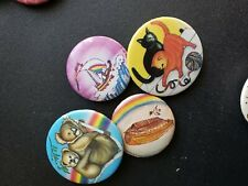 Vintage Collectible Pin Back Buttons Kittens and Koalas Lot of 4