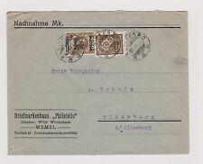 Memelgebiet 228 Mischfrankatur 1924 mit Litauen auf Bedarfsbrief