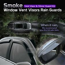 Smoke Window Vent Visors Side Mirror Rain Guard For HYUNDAI 08-12 Elantra i30CW
