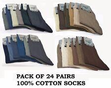 Mens boys socks 100% Cotton College Office Work Casual formal socks 24 pairs