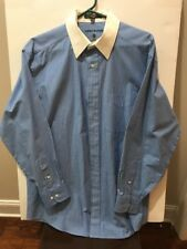 Mens Tommy Hilfiger Dress Shirt Striped Blue 15 1/2 23-33