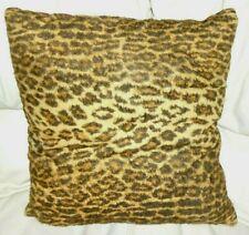 Rare Stunning Ralph Lauren Aragon Leopard Red Velvet Throw Pillow