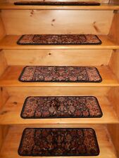 "13=STEP 9""X 26"" Stair Treads Staircase Step WOVEN CARPET.+LANDING 26''x 18''."