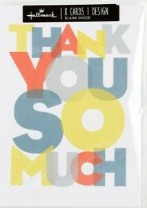 Hallmark Thank You Cards - Pack of 8