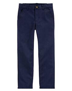 NWT OshKosh Navy Blue Size 5 Boys Uniform Pants Slacks Flat Front Chinos New $34