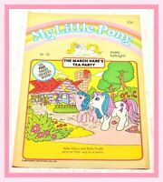 ❤️My Little Pony G1 Merch 1986 VTG Magazine Comic #15 March Hare's Tea Party❤️