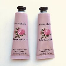 Crabtree & Evelyn Rosewater Hand Therapy Cream 0.9oz x 2 per Lot New Sealed