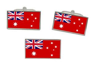Australian Red Ensign (Merchant Navy) Flag Cufflink and Tie Pin Set
