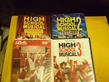 (4) Disney High School Musical Dvd Lot: High School Musical 1, 2 & 3 + More