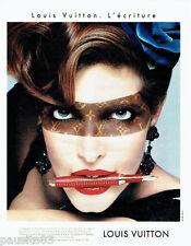 PUBLICITE ADVERTISING 046  1998  Louis Vuitton  stylos  l'écriture