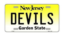 Metal Vanity License Plate Tag Cover - New Jersey Devils - Hockey Team